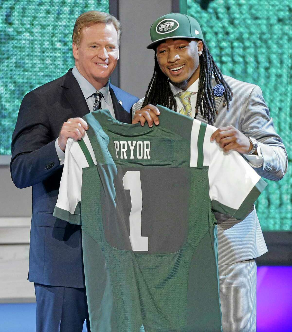 Louisville free safety Calvin Pryor poses with NFL commissioner Roger Goodell.