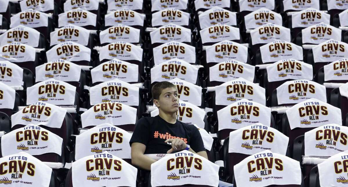 The Cleveland Cavaliers played a video during Wednesday night's game that showed a man throwing a woman across a room for wearing a Bulls T-shirt.