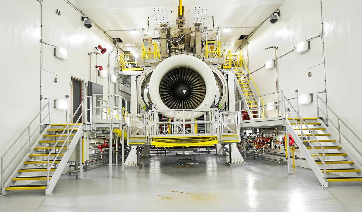 A PurePower engine casing for the Airbus A320neo as it prepares for assembly on Pratt & Whitney's new horizontal engine assembly line. Pratt & Whitney has approximately 7,000 PurePower Geared Turbofan engines on order, including commitments and options.