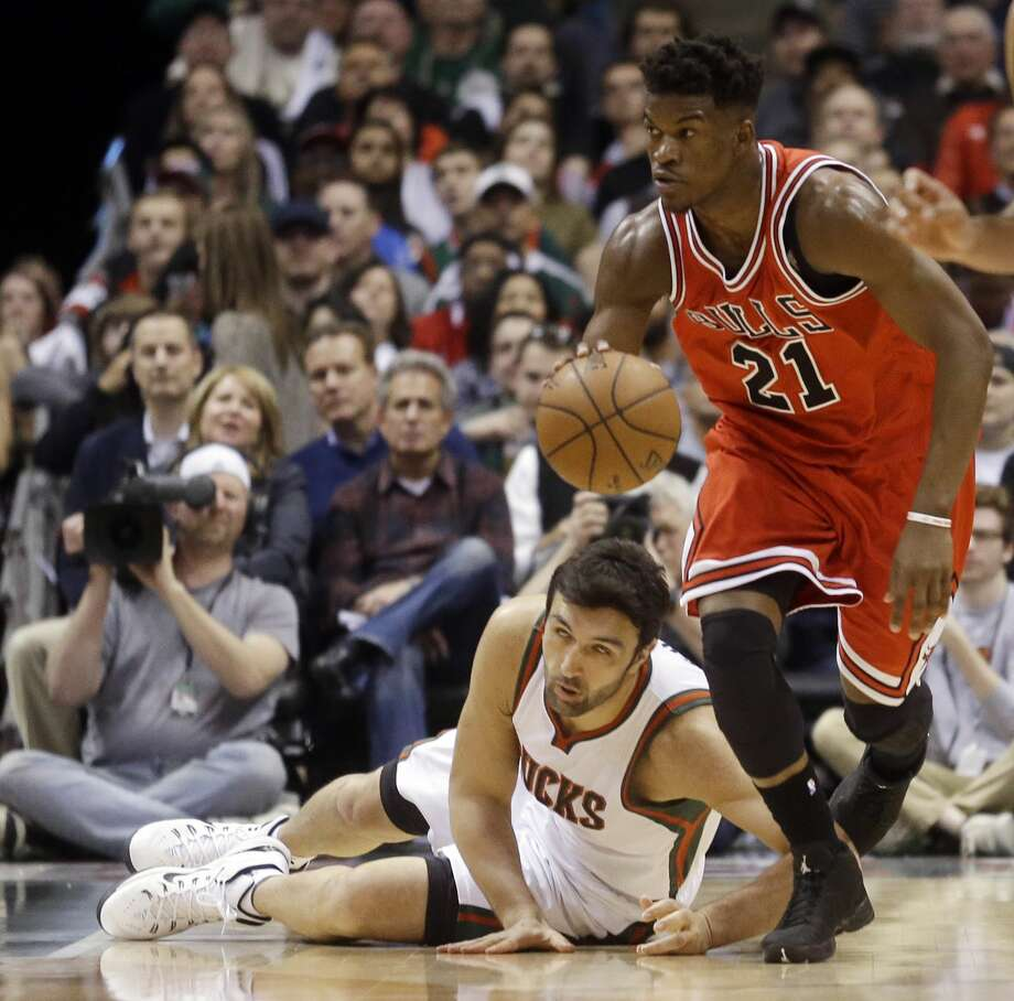 The Chicago Bulls' Jimmy Butler (21) was selected as the NBA's Most Improved Player. Photo: Morry Gash — The Associated Press  / AP