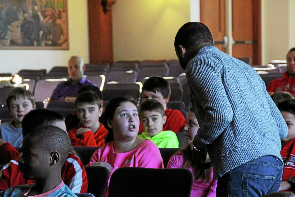 Sixth-graders at Brownstone Intermediate School, in Portland, took part in an interactive anti-bullying assembly program on Thursday designed for middle school students, Step Up! is designed to promote and support an inclusive and respectful school environment.