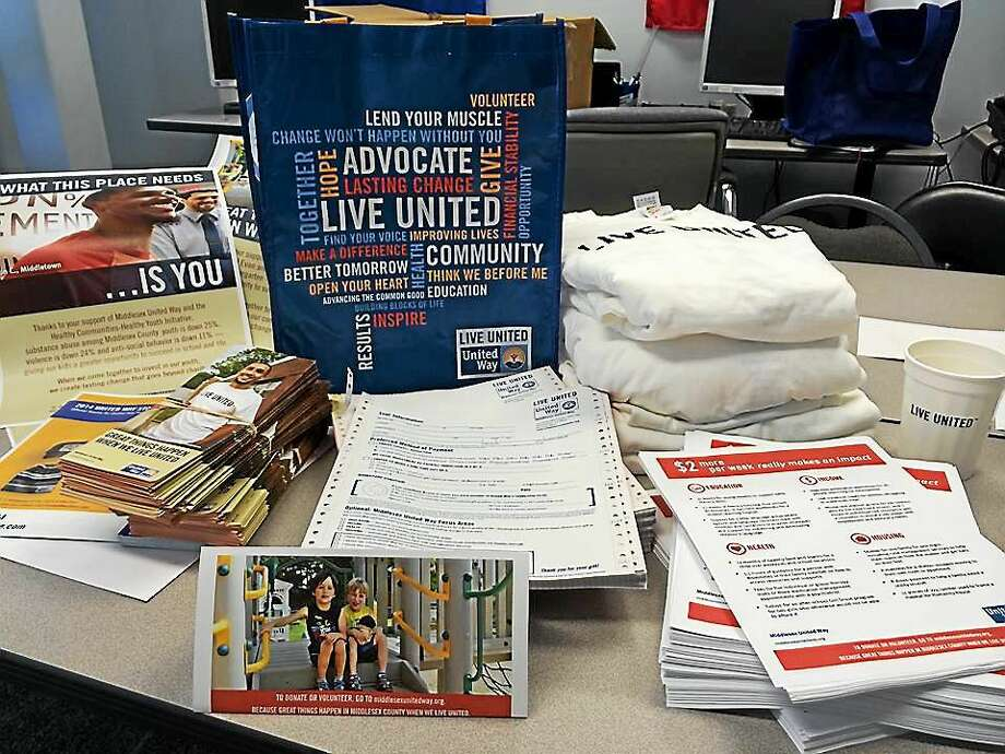 Middlesex United Way supplies are readt fir deliveries to a few early bird campaigns. Photo: Courtesy Photo
