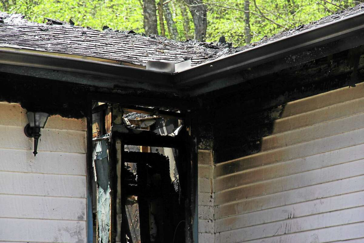 """Officials said a """"significant"""" house fire on Moodus Road in East Hampton Thursday morning necessitated the help of crews from Colchester, East Haddam, Haddam Neck and Portland to provide mutual aid."""