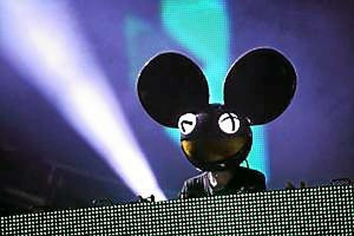 Joel Zimmerman aka Deadmau5 performs at the Ultra Music Festival at Bayfront Park, on Saturday, March 29, 2014, in Miami, Florida.
