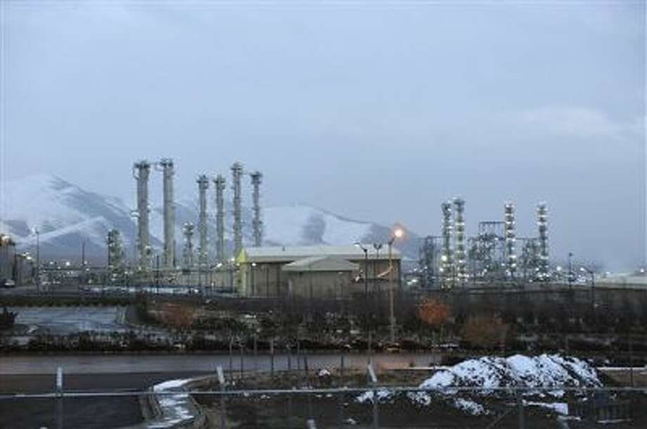 Iran's heavy water nuclear facility near the central city of Arak is backdropped by mountains. Photo: ASSOCIATED PRESS / AP2011