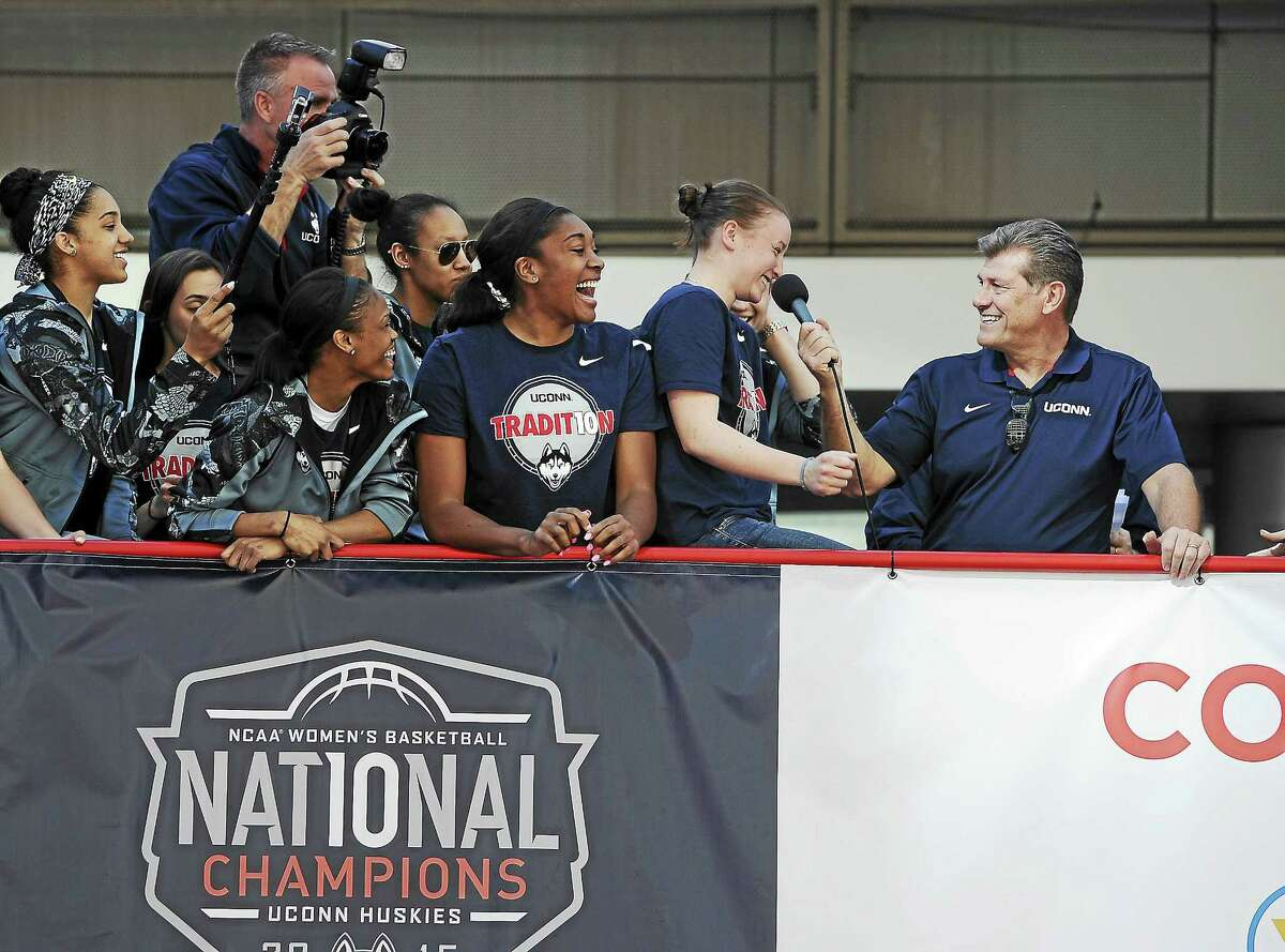 The UConn women's basketball team is going for a fourth straight national title this season.