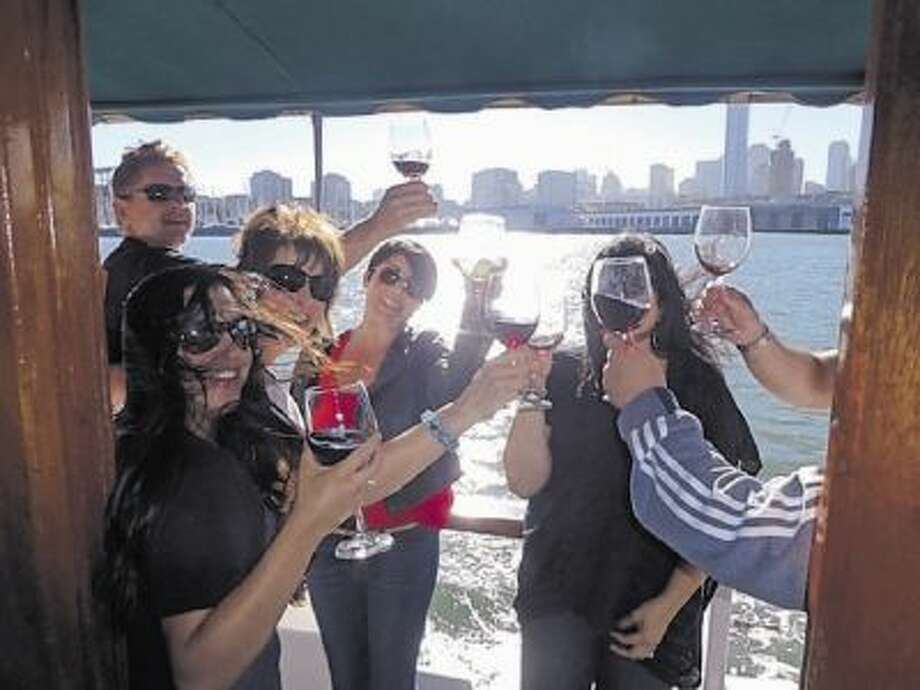 Wine lovers can tour the Bay Bridge wineries on Treasure Island via a retro 1950s cruise boat.