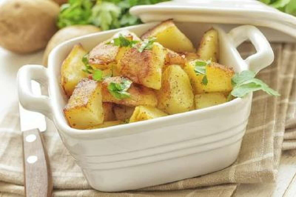 In this recipe, the author used Yukon potatoes, but other potatoes can be used. Cooking times may need to be adjusted.