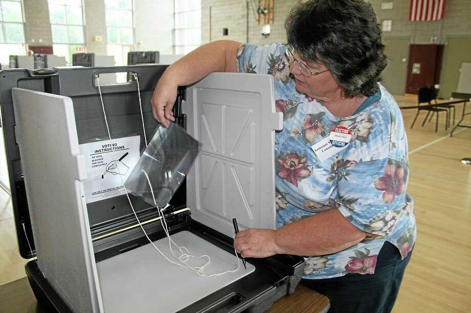 East Hampton residents flocked to the polls Tuesday to cast their ballot for the proposed $41.7 million budget — narrowly rejecting it. Photo: File Photo