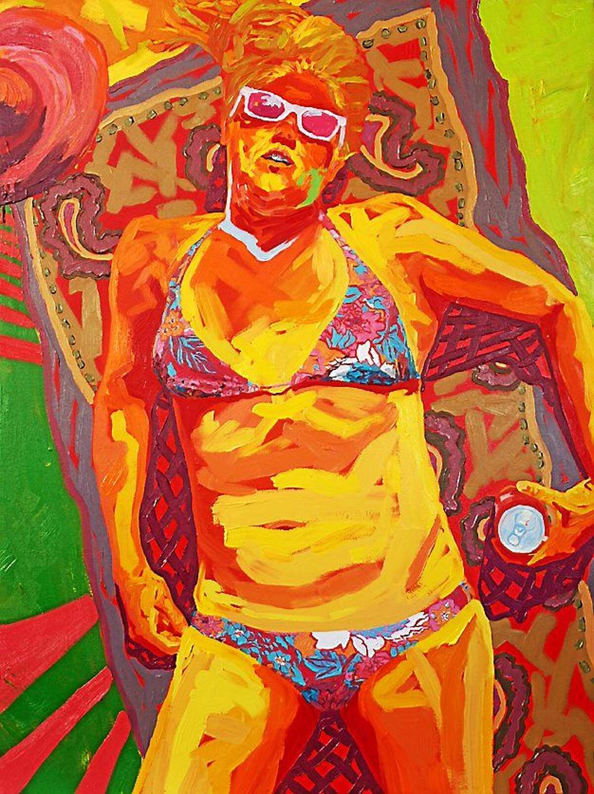 """Image courtesy of the artist Paintings by Clarissa R. Gerber will be exhibited at Middlesex Community College's Pegasus and Niche galleries from Jan. 26-March 6. Above, """"Allie in Summer,"""" 54 x 40 inches, oil on canvas, 2013."""