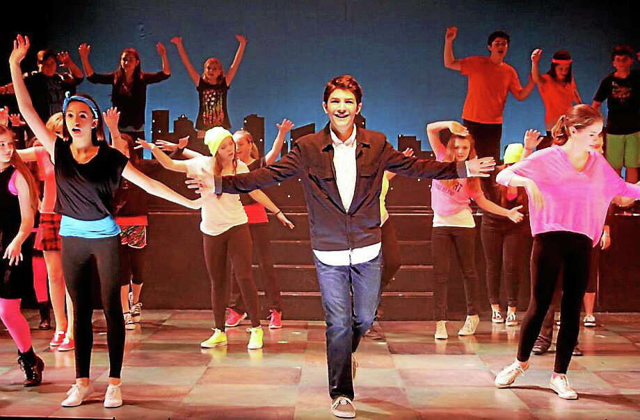 "Submitted photo -  Seven Angels The cast of ""13 the Musical"" performs a scene from the show, which is being performed at Seven Angels in Waterbury. Photo: Journal Register Co."