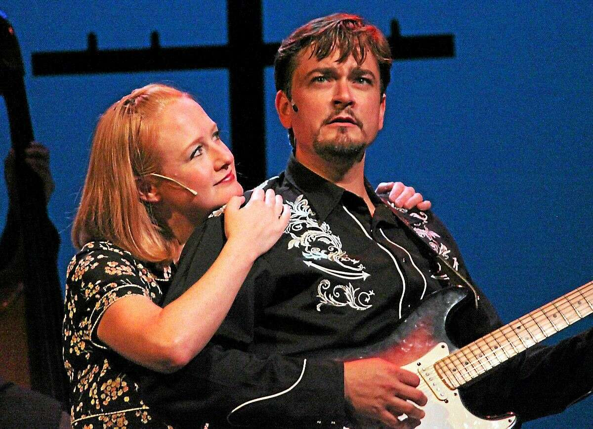"""Photographs by Anne Hudson Eric Anthony, right, from """"Ring of Fire"""" and pictured with Katie Anthony, will return to the Ivoryton Playhouse in March in """"Stand By Your Man."""""""