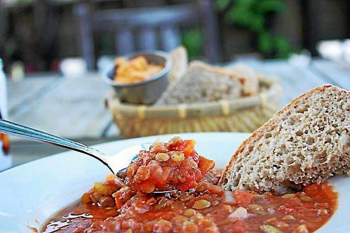Try this vegan Tomato Lentil Soup at home, from this recipe courtesy of Middletown's vegan I.O.N. Restaurant.