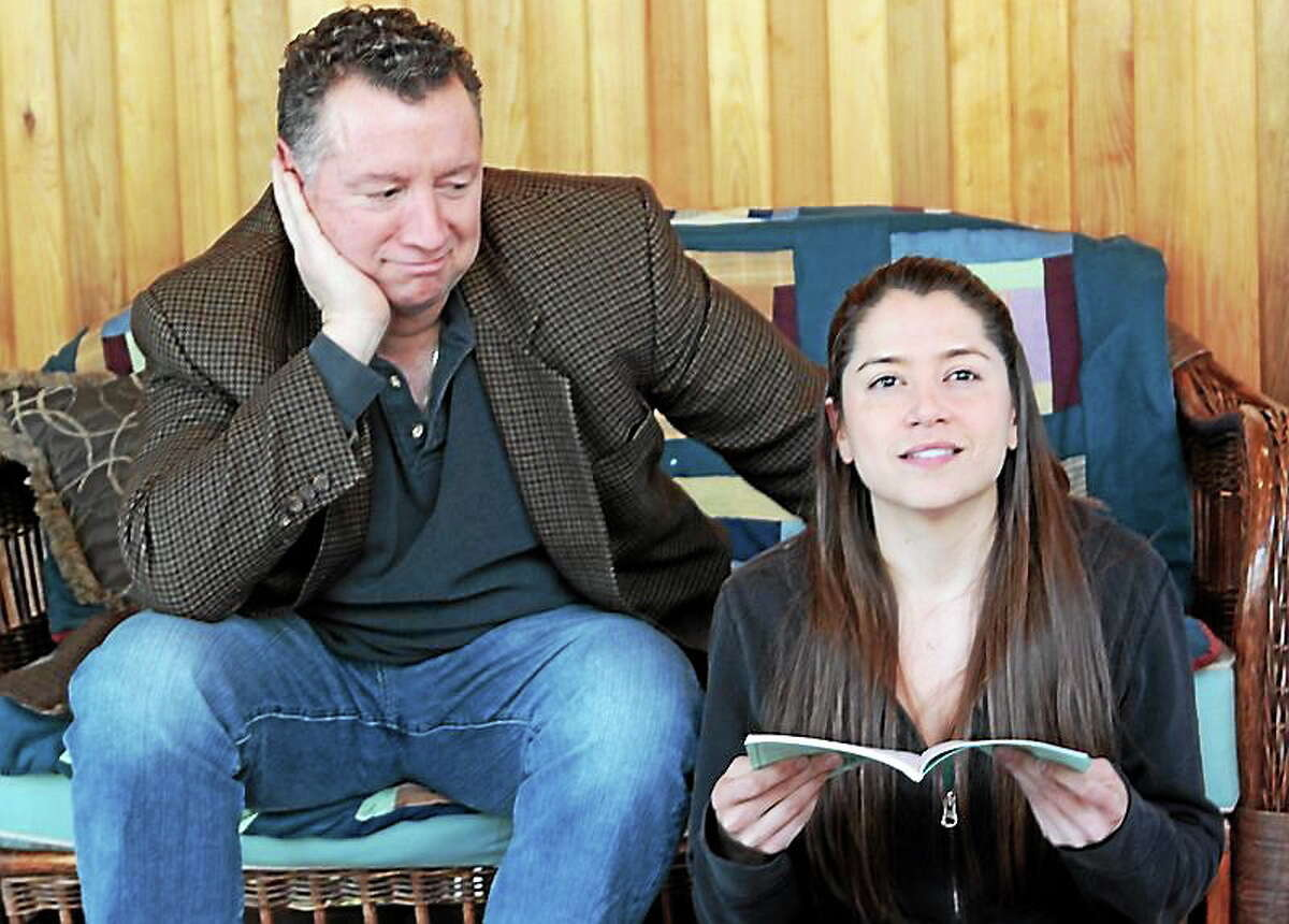 """SUbmitted photo - Ivoryton Playhouse Herb and Libby, performed charmingly by Mike Roland and Siobhan Fitzgerald, perform a scene from """"I Ought to Be In Pictures"""" at the Ivoryton Playhouse."""