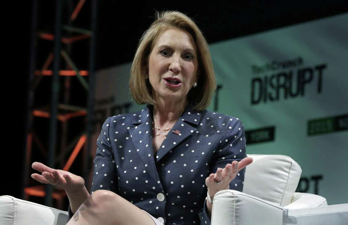 Republican presidential candidate Carly Fiorina, a former Hewlett-Packard chief executive.