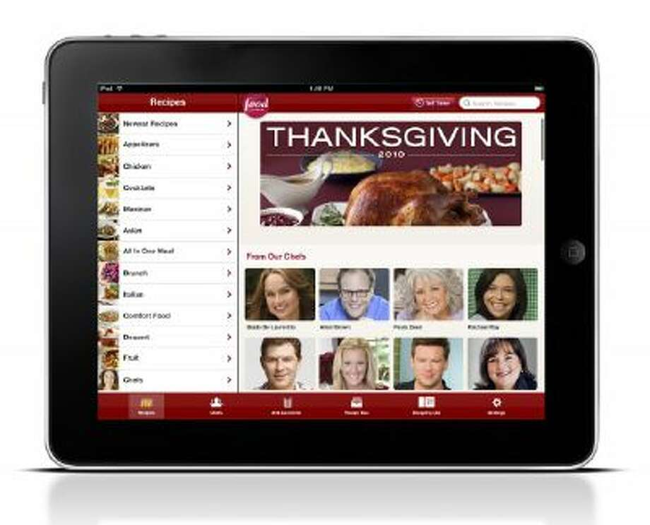 This product image released by Food Network shows their new In the Kitchen application. Food Network's new app features 45,000 recipes from the network?s chefs, including monthly seasonal menus.