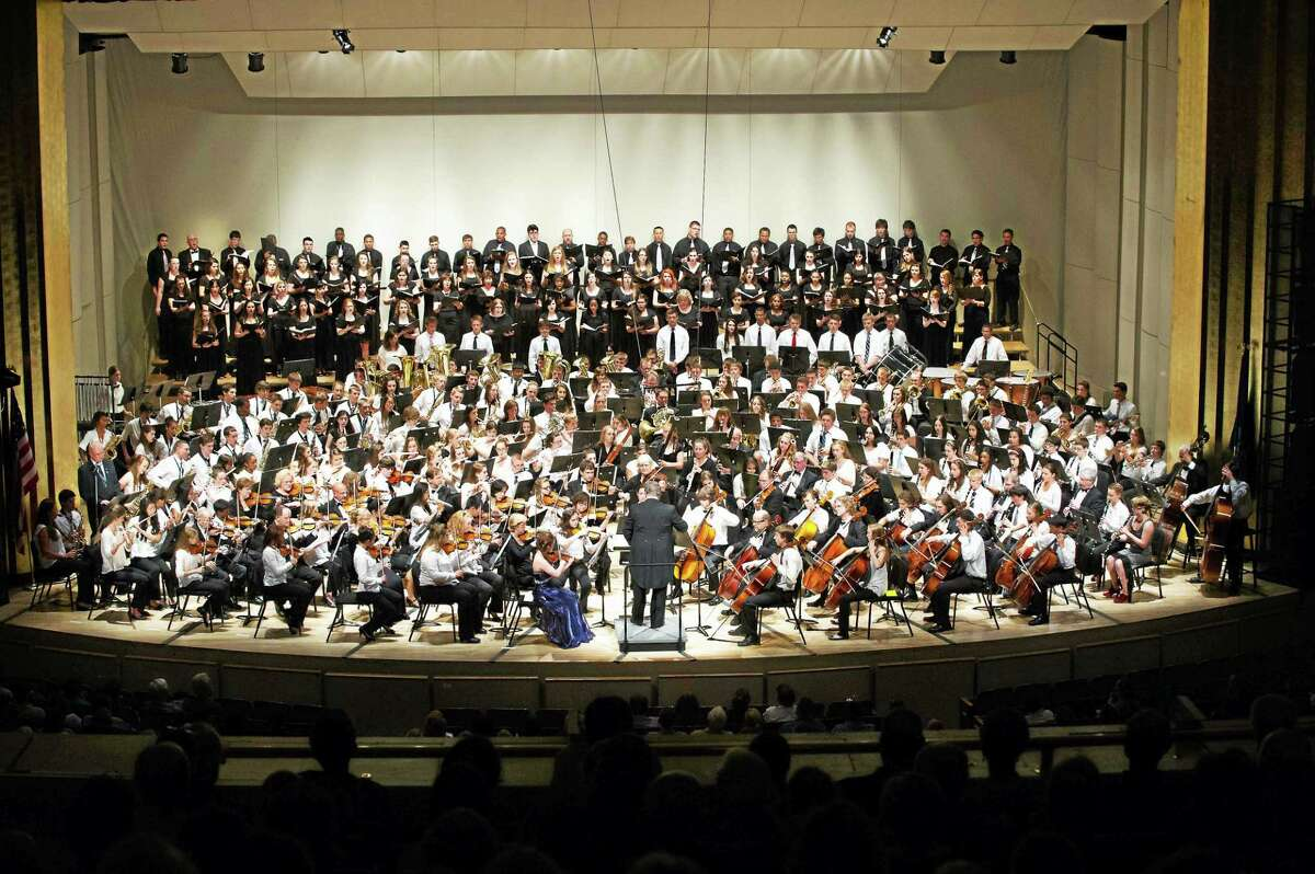 The full ensemble plays at the Bushnell for Middletown High School Goes to the Symphony.
