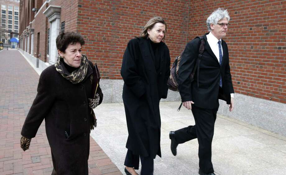 Members of the legal defense team for Boston Marathon bombing suspect Dzhokhar Tsarnaev, from left, Miriam Conrad, Judy Clarke and Timothy Watkins arrive at the federal courthouse in Boston,Tuesday, Jan. 6, 2015, on the second day of jury selection in Tsarnaev's trial. (AP Photo/Michael Dwyer) Photo: AP / AP