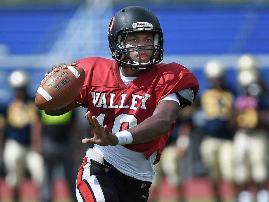 Valley Regional/Old Lyme senior Chris Jean-Pierre is preparing to take over at quarterback this season for the Warriors. Photo: Catherine Avalone — The Middletown Press  / The Middletown Press