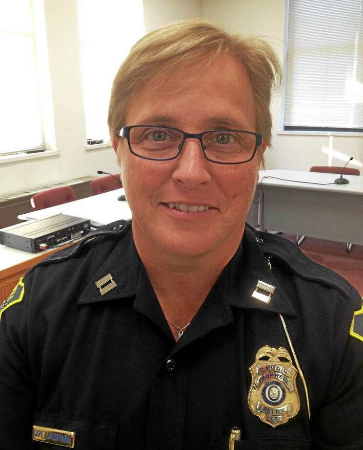 Capt. Denise LaMontagne is the new chief of police in Cromwell. Photo: Jeff Mill — The Middletown Press