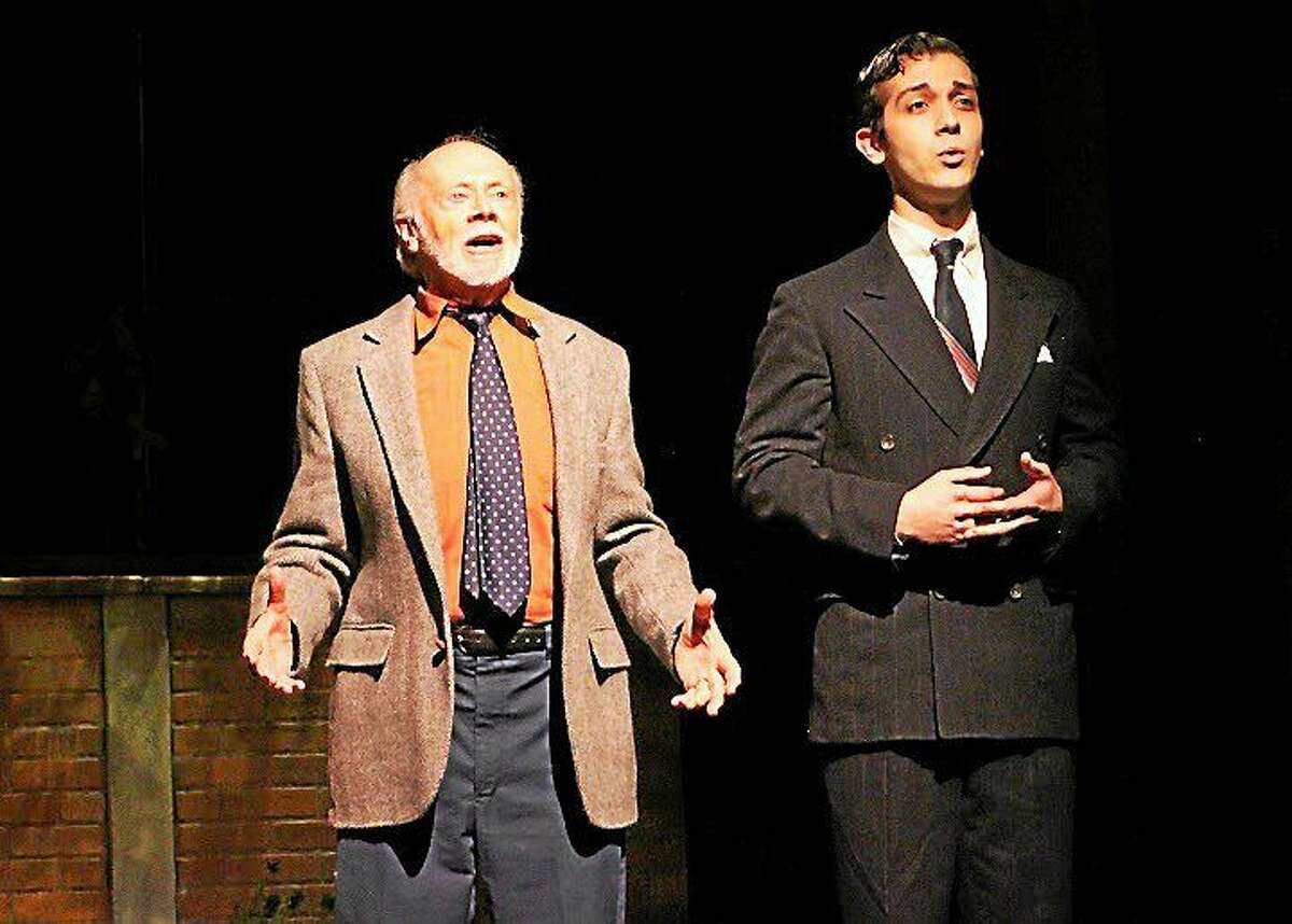 Photos courtesy of the Ivoryton Playhouse Chet Carlin and Stephen Mir as his younger self, in ìThe Last Romanceî at the Ivoryton Playhouse.