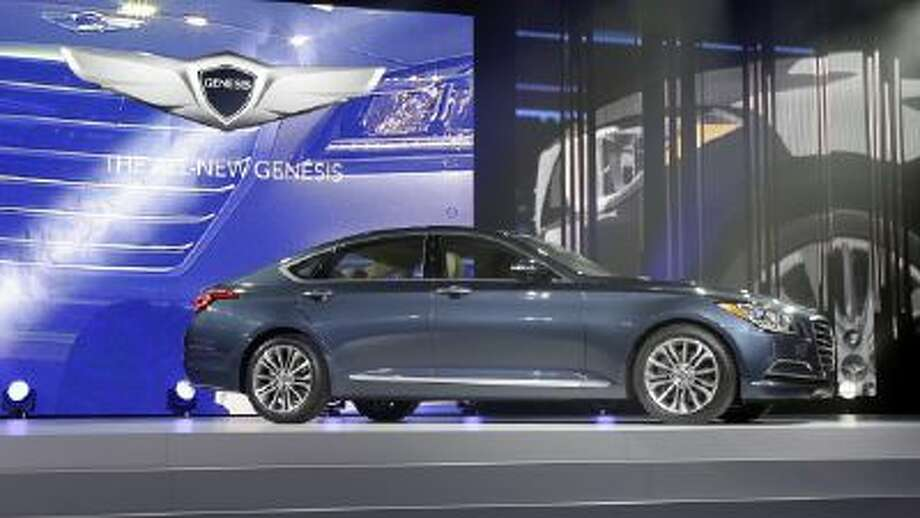 The Hyundai Genesis is unveiled at the North American International Auto Show in Detroit Jan. 13.