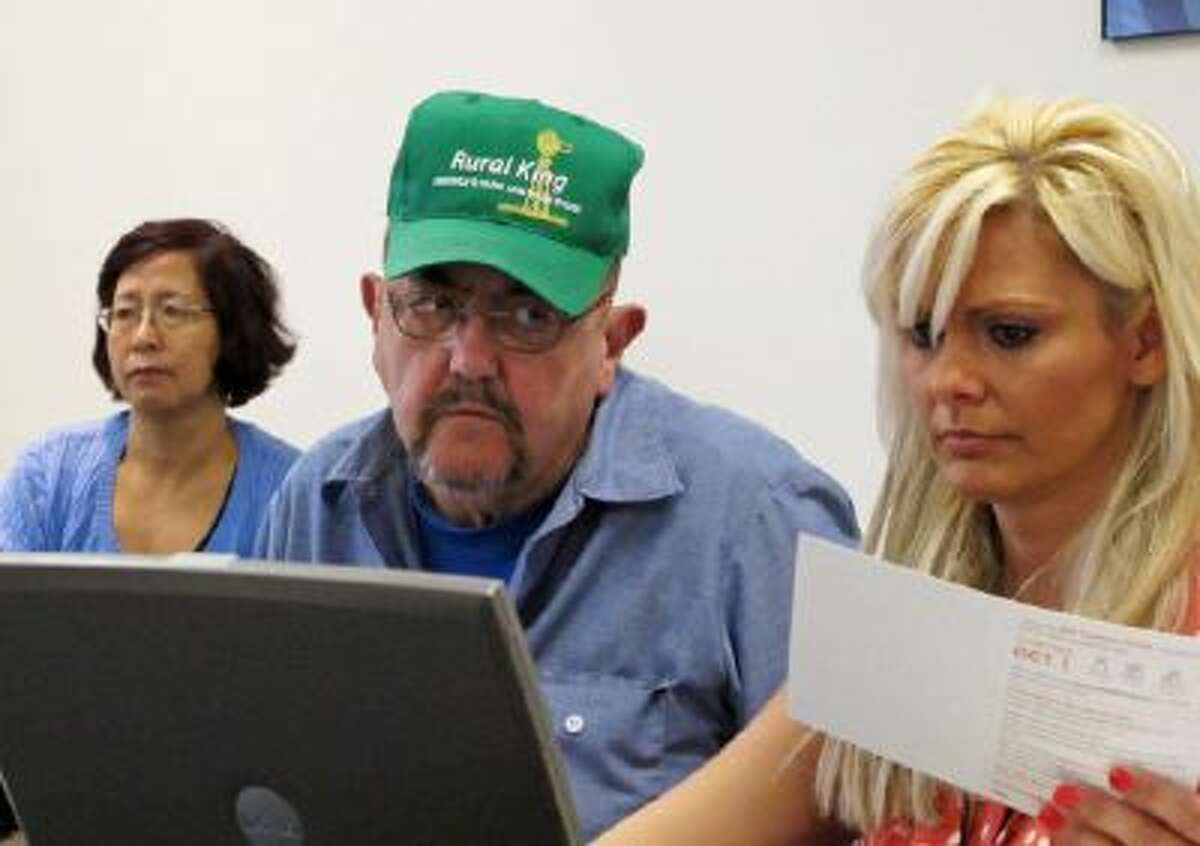 An Illinois man tries to sign up for health care coverage through the Affordable Care Act.
