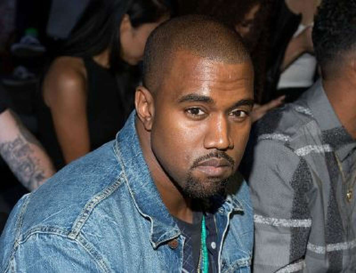 In this Sept. 7, 2012, file photo, Kanye West attend at the Alexander Wang collection during Mercedes-Benz Fashion Week in New York.