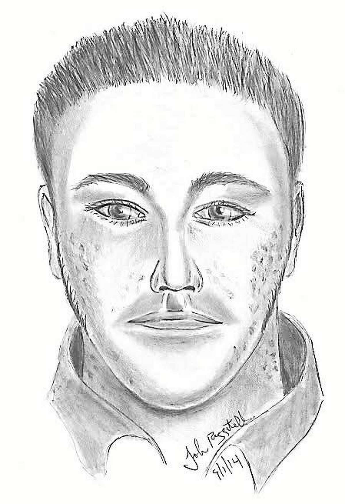 Photo sketch of the sexual assault suspect provided by the Fairfield Police Department.