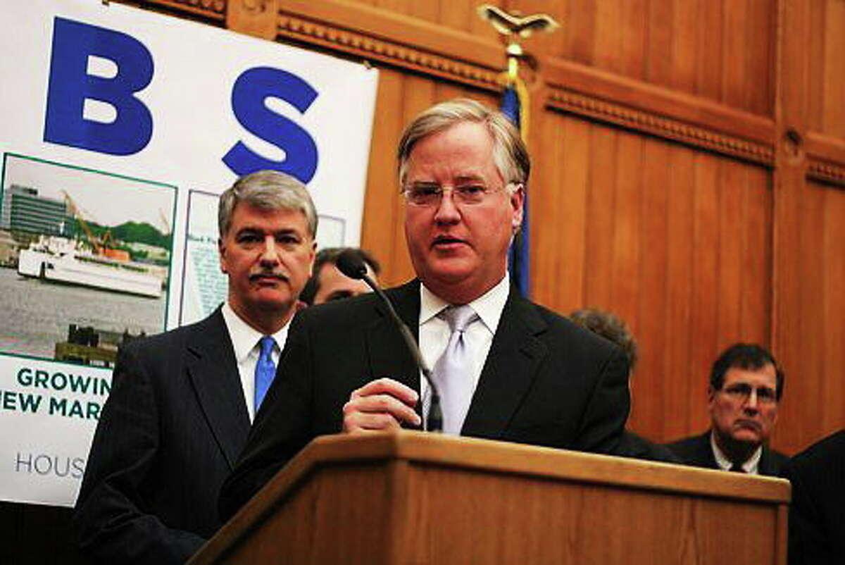 House Speaker Brendan Sharkey and Senate President Donald Williams. Hugh McQuaid/CT NewsJunkie