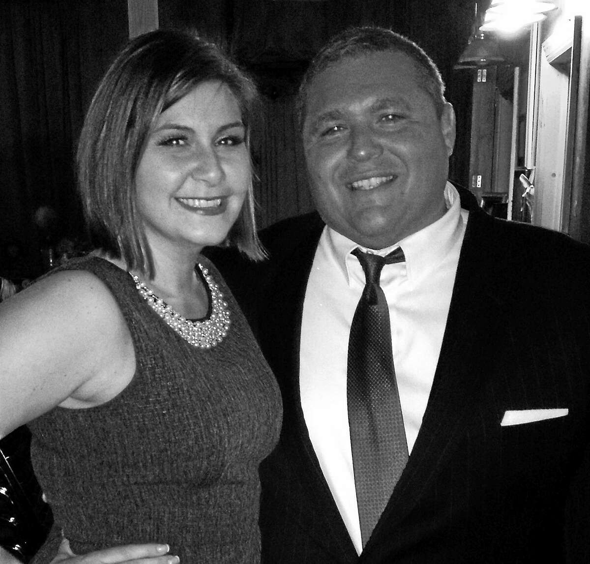 """Photo courtesy of CT Cabaret Theater Carleigh Shultz of East Hartford and Joe Mauriello of Manchester are appearing on """"God of Carnage"""" at the Connecticut Cabaret Theater."""