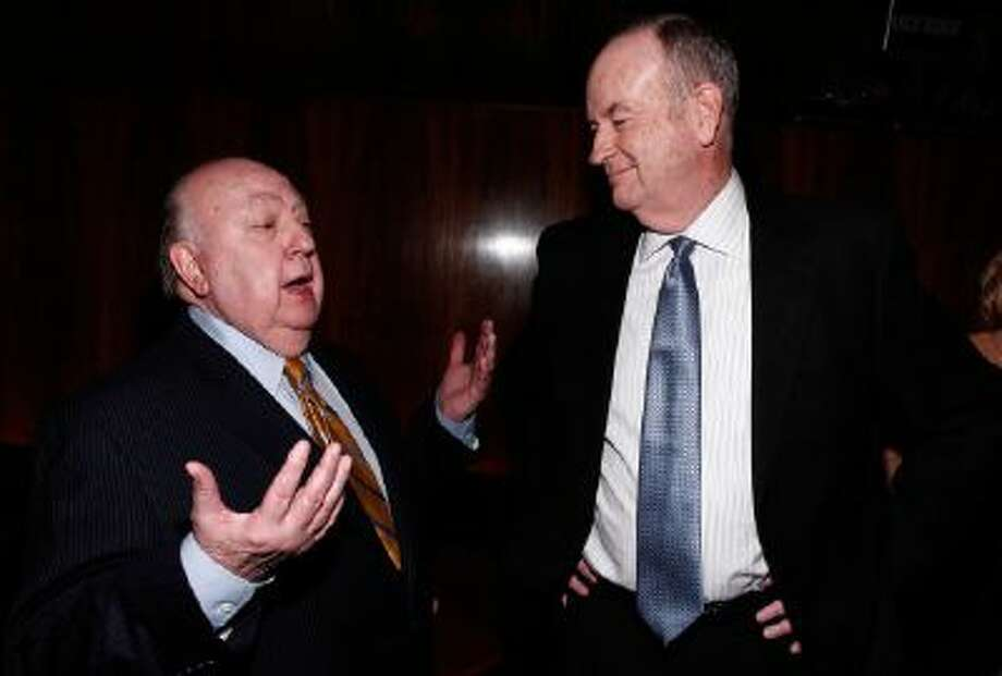 Roger Ailes, left, and Bill O'Reilly are seen at The Hollywood Reporter 35 Most Powerful People in Media event on Wednesday, April 11, 2012 in New York.