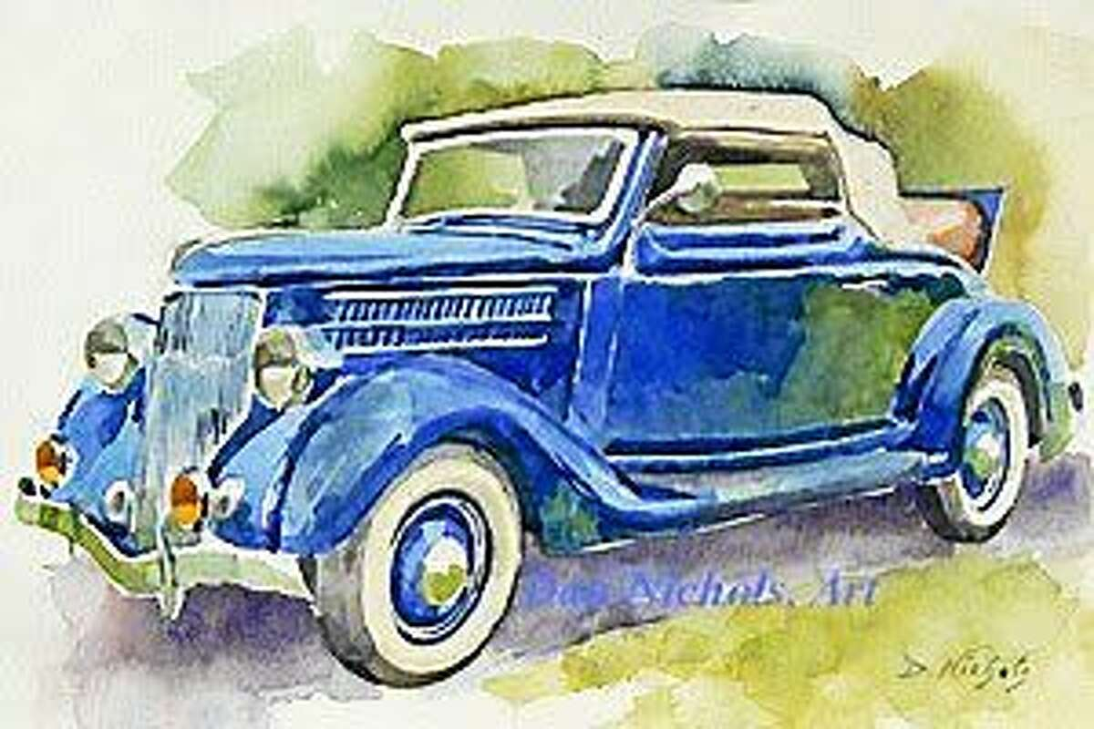 """Submitted image courtesy of the artist """"Thirty-Six V8"""" a watercolor by Dan Nichols."""