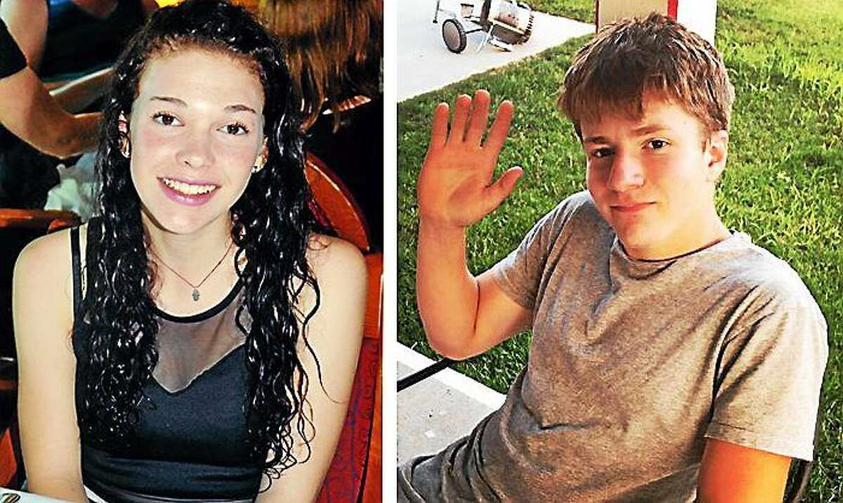 Missing teens, Carolyn Lindsey, left, and Sam Foley, right, returned to their families Friday.