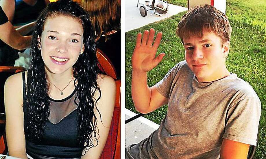 Missing teens, Carolyn Lindsey, left, and Sam Foley, right, returned to their families Friday. Photo: Journal Register Co.