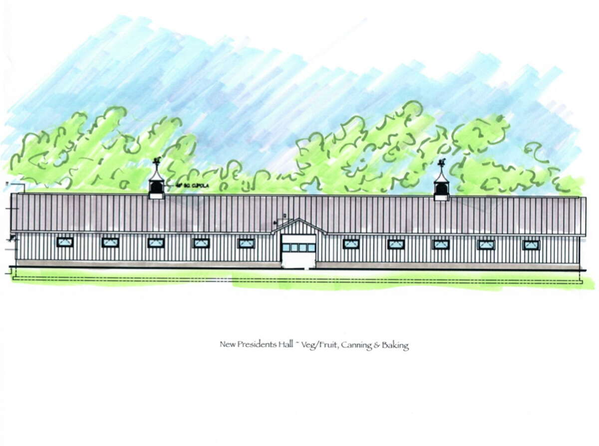 A rendering of what the new President's Hall at the Durham Fairgrounds will look like.