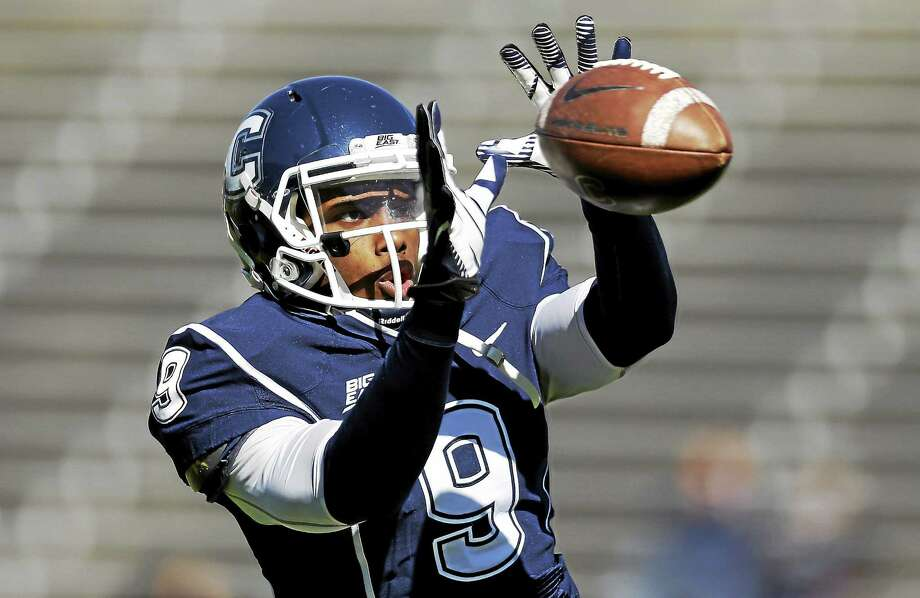UConn wide receiver Kamal Abrams has fought through adversity after the passing of a close friend. Photo: Michael Dwyer — The Associated Press File Photo  / AP2012