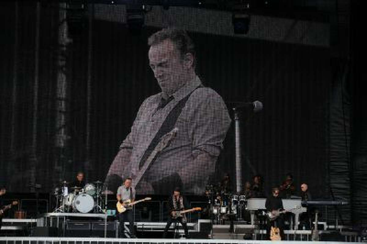 Bruce Springsteen and The E Street Band performs at Nowlan Park on July 28, 2013 in Kilkenny, Ireland.