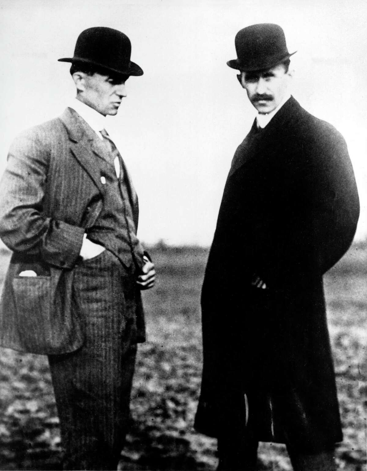 Wilbur Wright, left, and Orville Wright are shown in this undated file photo.The Wright brothers worked together to build and fly the first Wright Biplane, which made a successful flight on December 17, 1903 at Kill Devil Hills near Kitty Hawk, North Carolina.