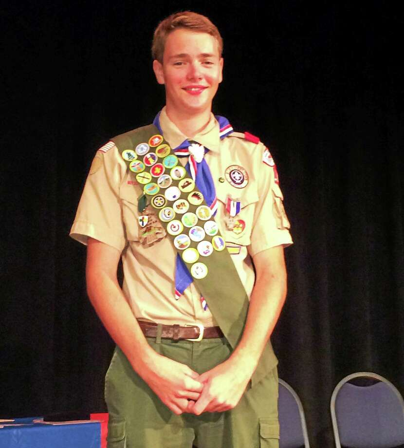 Chester/Deep River Boy Scout Troop 13's newest Eagle Scout is Bobby Neil Hamblett. Photo: Lianne Rutty - Special To The Press