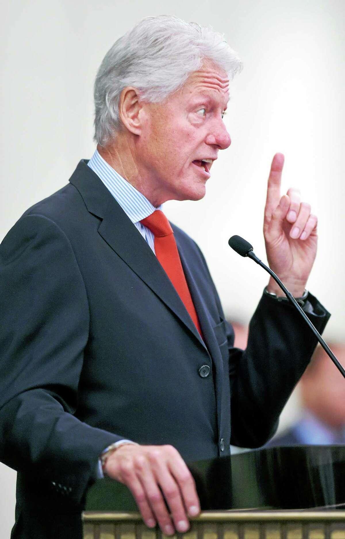 Clinton speaks Tuesday.