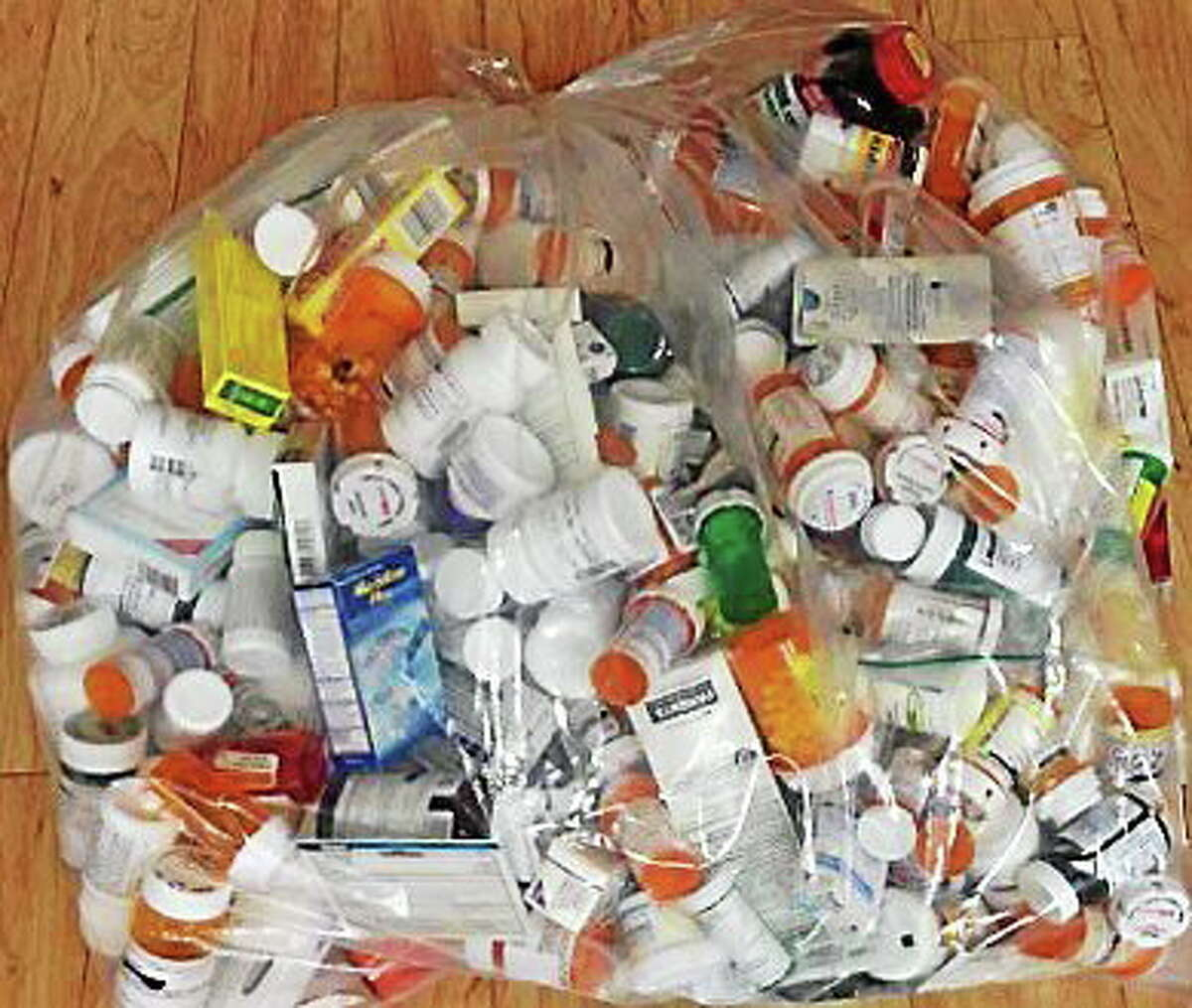 Submitted photo Middlefield and Durham residents turned in more than 110 pounds of prescription drugs during last week's take-back day coordinated by state and local authorities