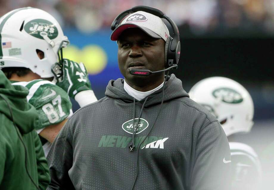 New York Jets head coach Todd Bowles watches from the sideline during Sunday's game against the New England Patriots in Foxborough, Mass. Photo: Steven Senne — The Associated Press  / AP