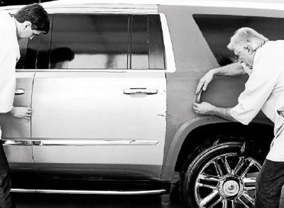 Cadillac Escalade creative sculpting.