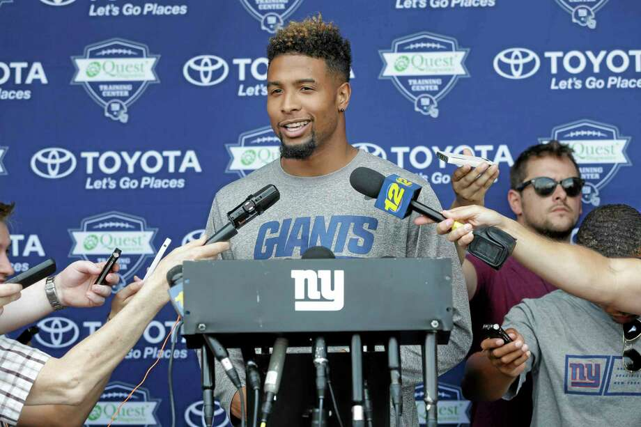 New York Giants rookie receiver Odell Beckham Jr. may still be a few weeks away from playing. Photo: Seth Wenig — The Associated Press File Photo  / AP
