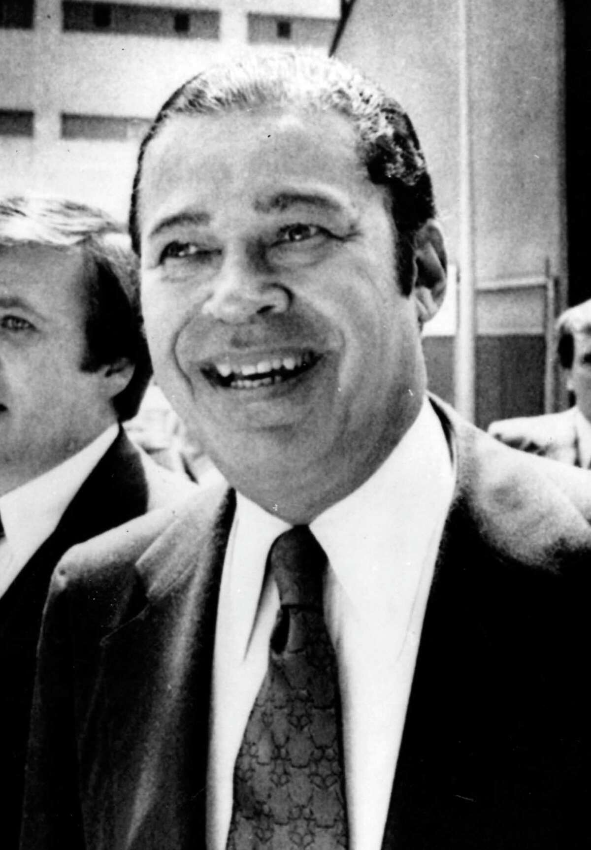 File- In this June 7, 1978 file photo, Sen. Edward W. Brooke, R-Mass., is shown in Cambridge, Mass. Brooke, the first black to win popular election to the Senate, has died. He was 95. Ralph Neas, a former aide, said Brooke died Saturday, Jan. 3, 2015, of natural causes at his Coral Gables, Fla, home. (AP Photo/file)