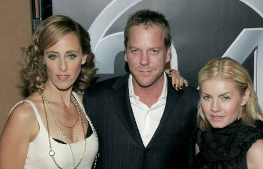 The 100th Episode and the 5th season premiere party of '24' in Hollywood, United States on January 07, 2006 - Kim Raver, Kiether Sutherland and Elisha Cuthbert at the 100th Episode and 5th season premiere party of '24' at the Cabana Club. Photo: Gamma-Rapho Via Getty Images / 2011 Gamma-Rapho