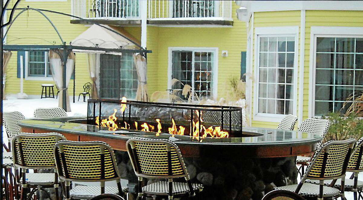 Submitted photo The outside seating area at Fresh Salt in Old Saybrook.