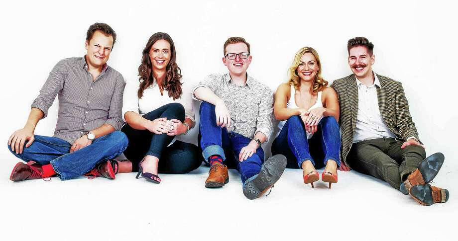 "Fans of TV shows like ""Glee"" will probably enjoy the voal stylings of London-based a cappella group Apollo5. Photo: Contributed Photo"