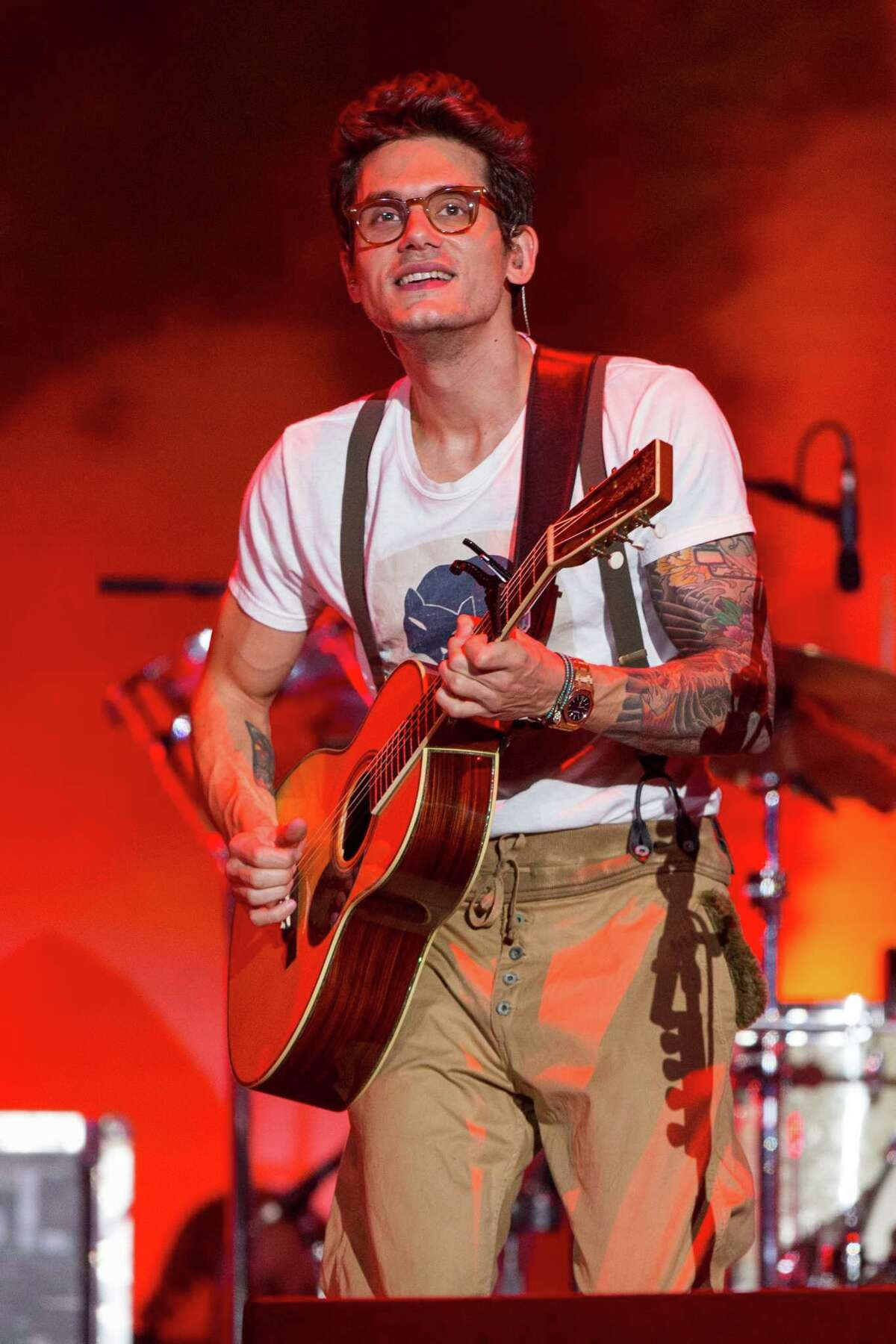 John Mayer performs on stage during the Made In America Festival at Grand Park on Sunday, Aug. 31, 2014, in Los Angeles. (Photo by Paul A. Hebert/Invision/AP)